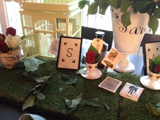 sweet table alice au pays des merveilles_cage oiseaux bois vert pastel_fiole drink me_vase paris astier de villatte