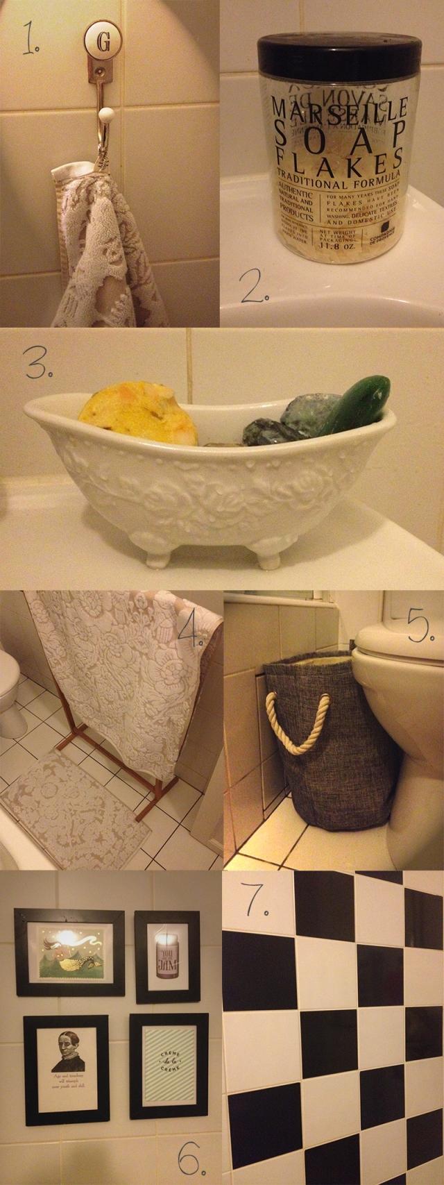 décorer sa salle de bain_astuces faciles_déco pas chère_relooker une petite salle de bain_bathroom makeover with simple tips_accessoires salle de bain déco