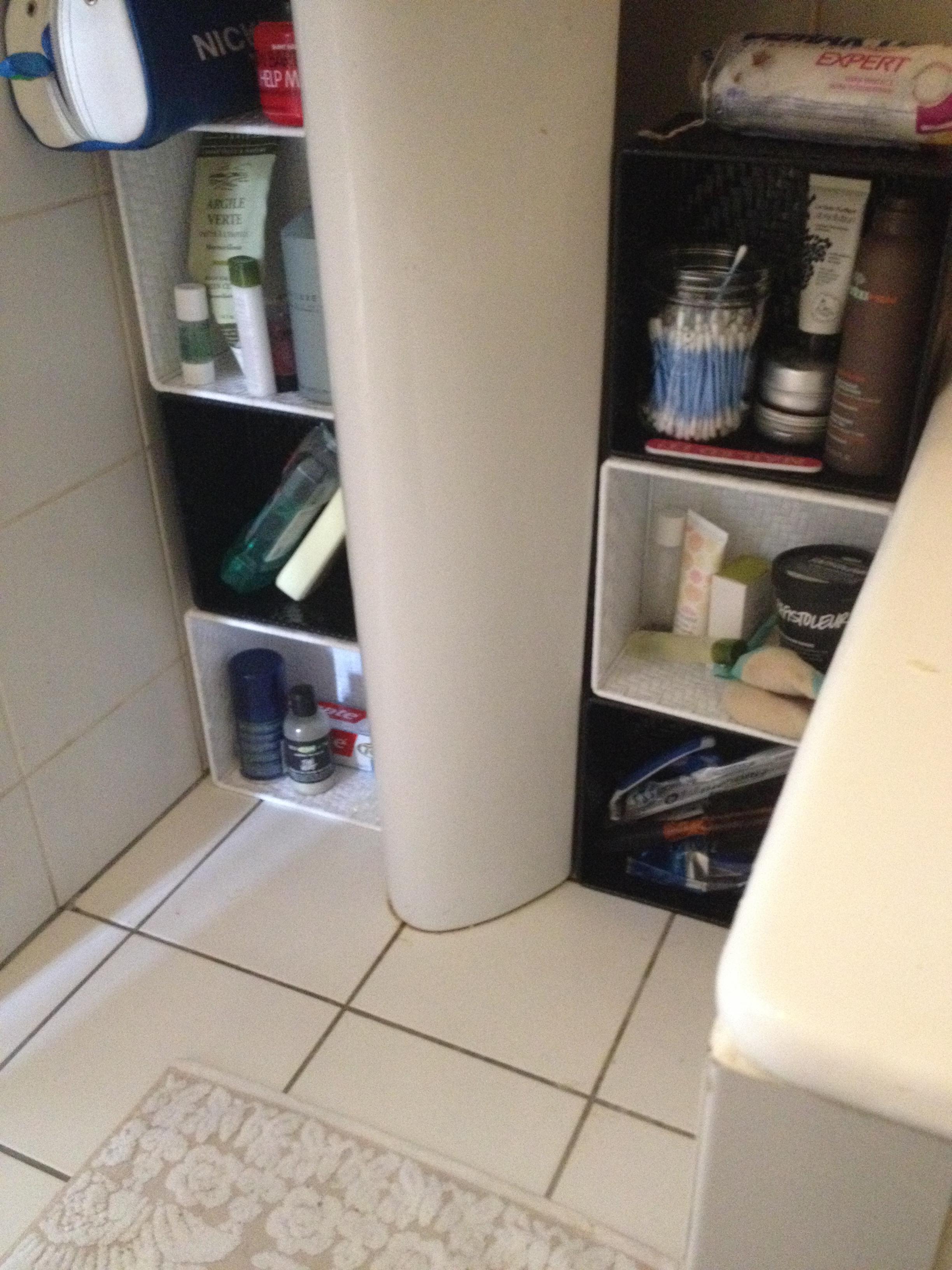 Salle De Bain Astuce Rangement ~ diy rangement de salle de bain chez vivianne