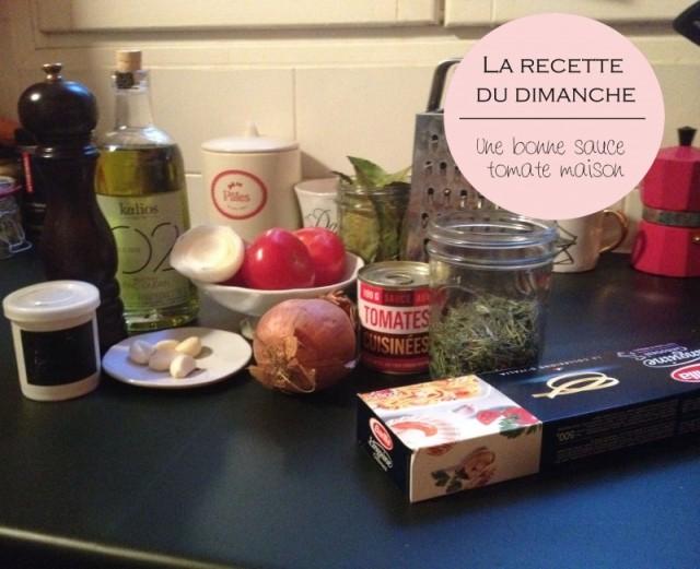 recette_faire sa sauce tomate_sauce simple tomate herbes ail_tous les ingredients nécessaires