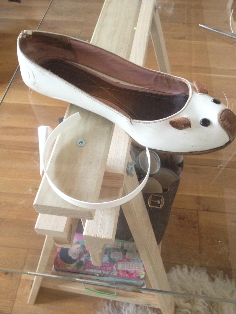 DIY ballerines abimées aux talons_transformer les chaussures sandales_materiel necessaire