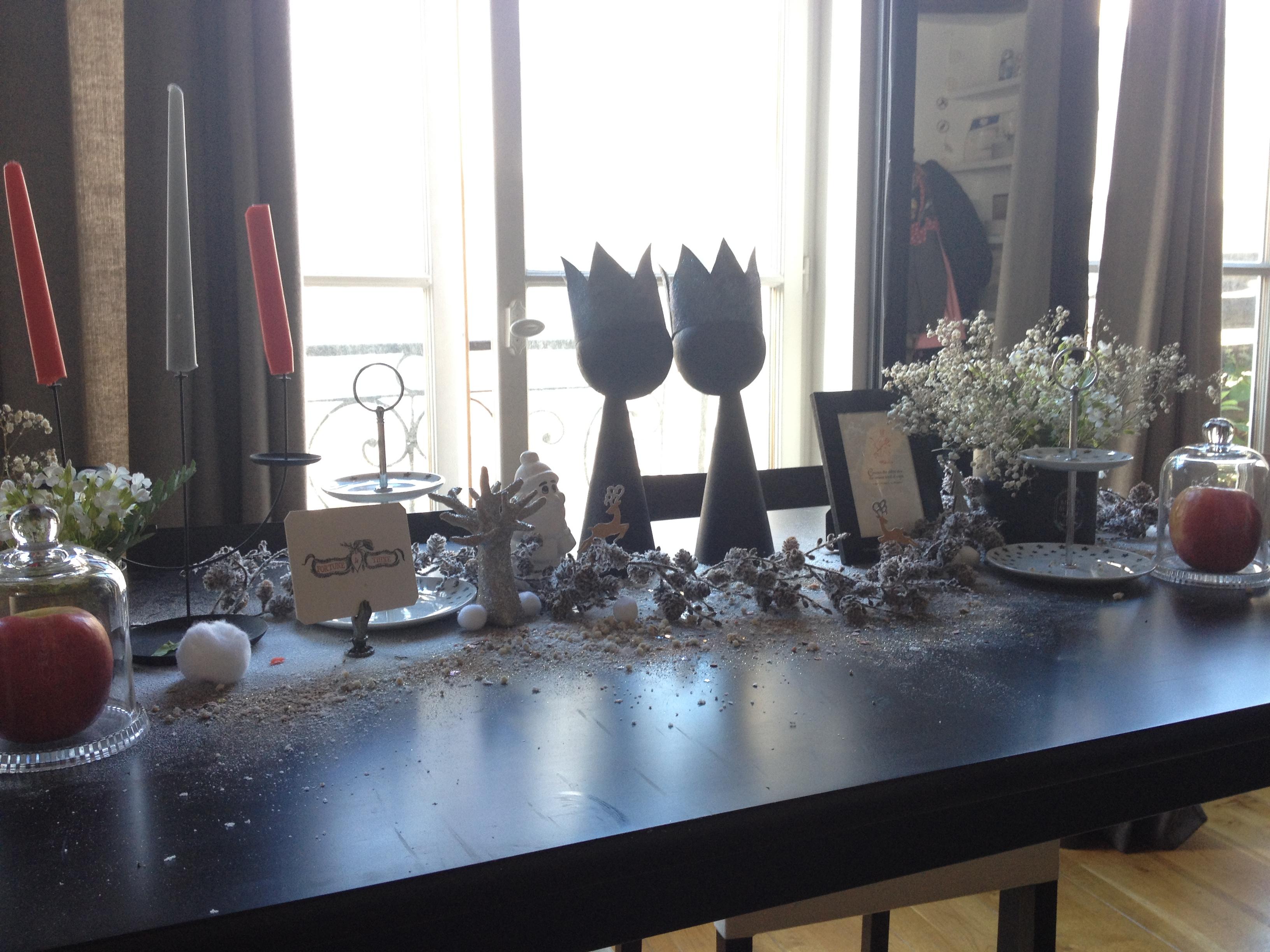 d co noir et blanc table chez vivianne. Black Bedroom Furniture Sets. Home Design Ideas